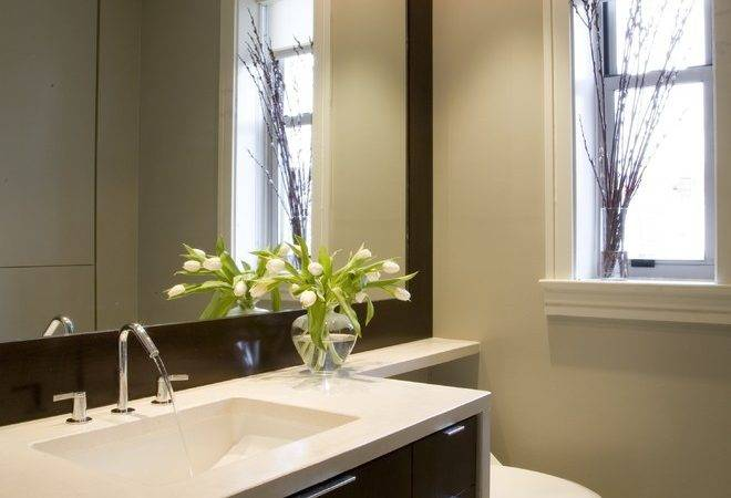 Delightful Large Framed Bathroom Mirrors Decorating Ideas