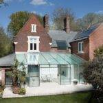Delightful Traditional House Modern Glass Extension