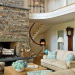 Design Fieldstone Fireplace Living Room Ifresh