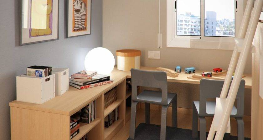 Design Ideas Small Floorspace Kids Rooms Grey Brown