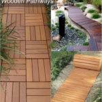 Design Wooden Garden Walkways Pinterest