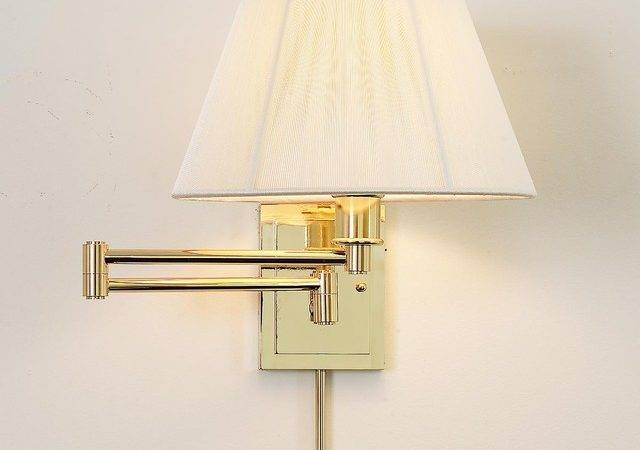 Designer Swing Arm Wall Lamp Shade Finishes