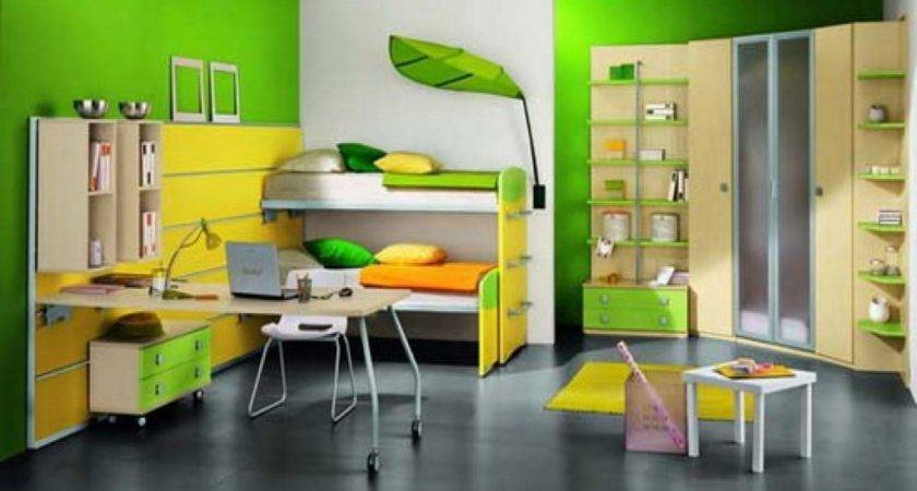 Different Colour Wall Painting Study Room