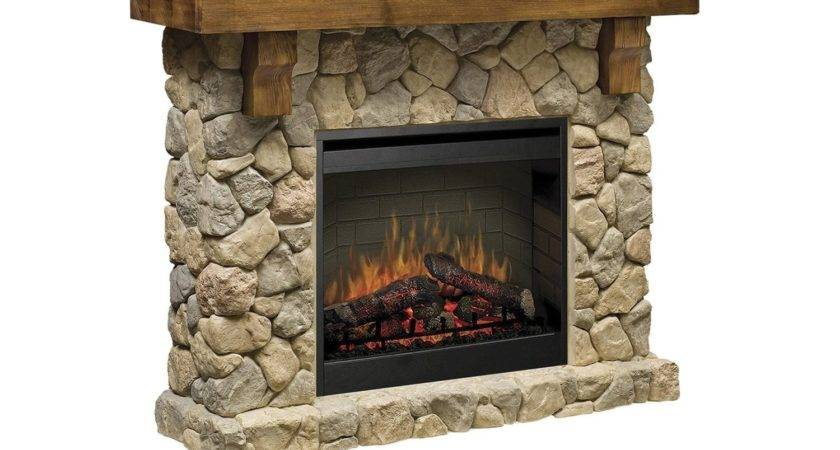 Dimplex Fieldstone Flat Wall Electric Fireplace