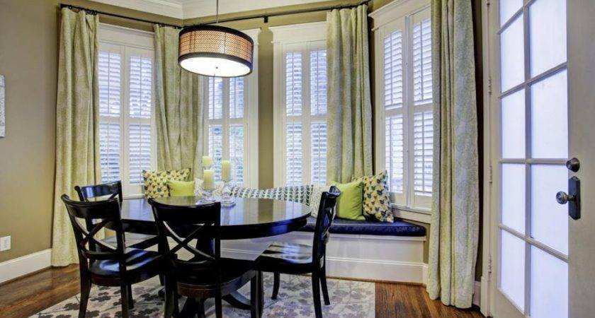Dining Room Excellent Window Treatment Ideas