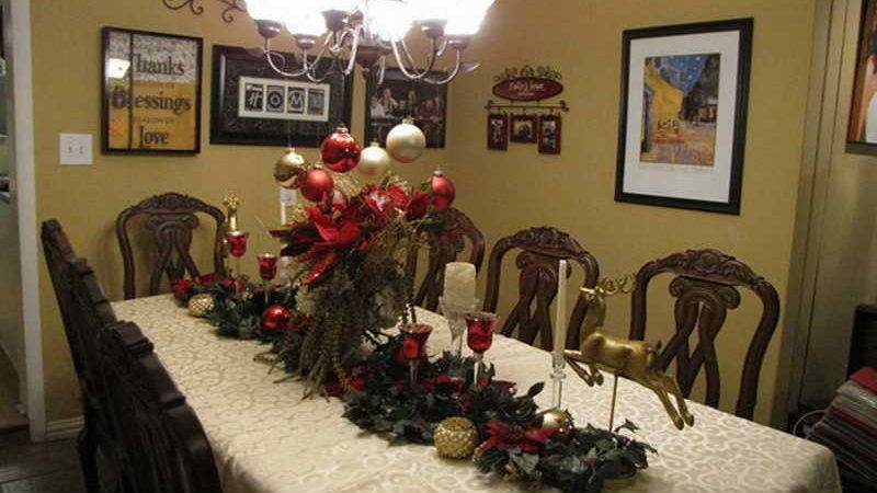 Dining Room Table Christmas Decorations Best