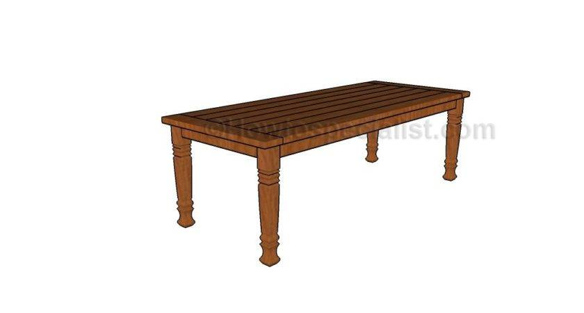 Dining Room Table Plans Howtospecialist Build