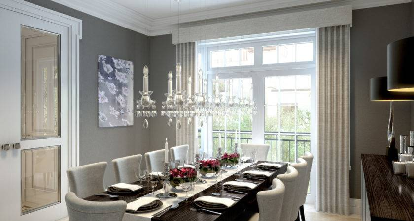 Dining Table Decor Ideas Room Transitional