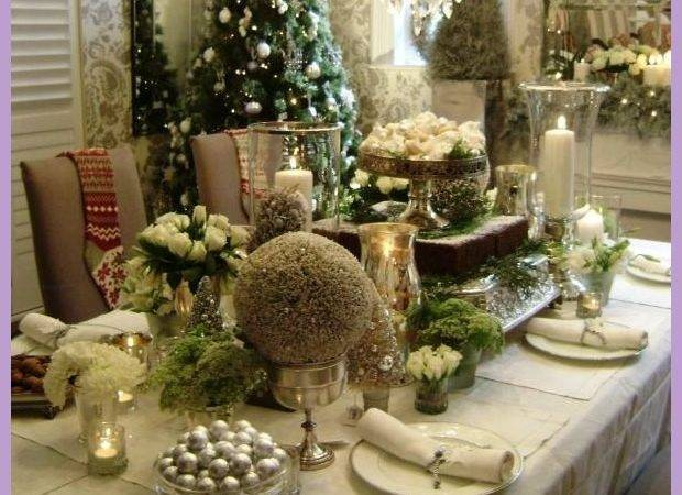 Dining Table Holiday Decor Homedesigns