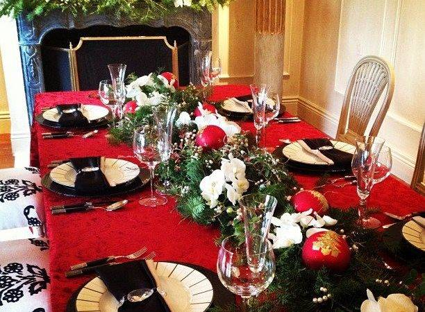 Dining Table Holiday Decorations