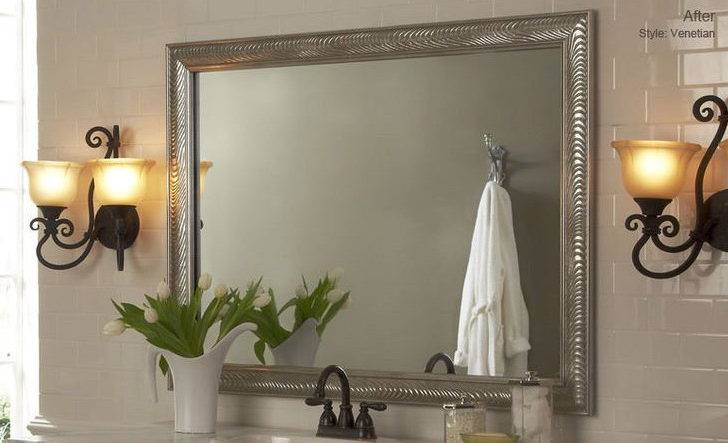 Diy Bathroom Mirror Frame Ideas Best Home