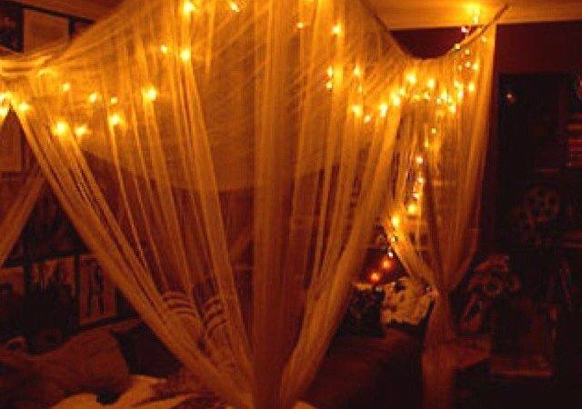 Diy Canopy Bed Lights Something