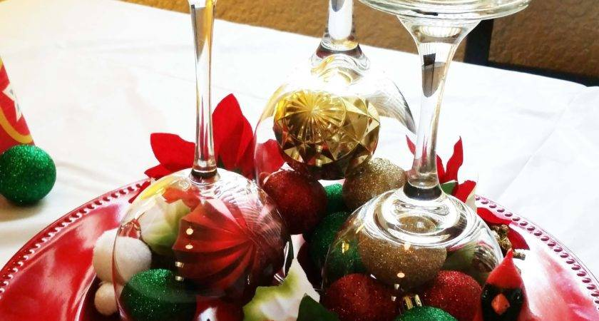 Diy Christmas Wine Glass Table Centerpieces Youtube Loversiq