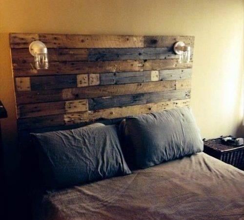 Diy Headboard Euro Pallets Interior Design Ideas Avso