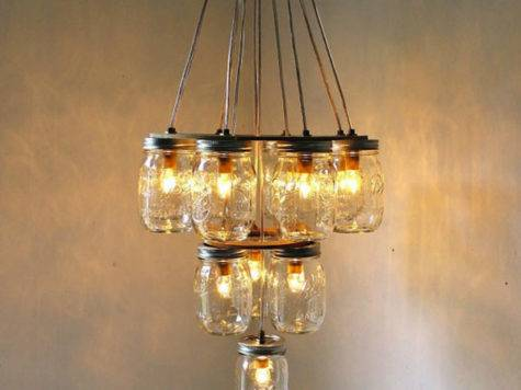 Diy Light Fixtures Ideas Recycled Materials