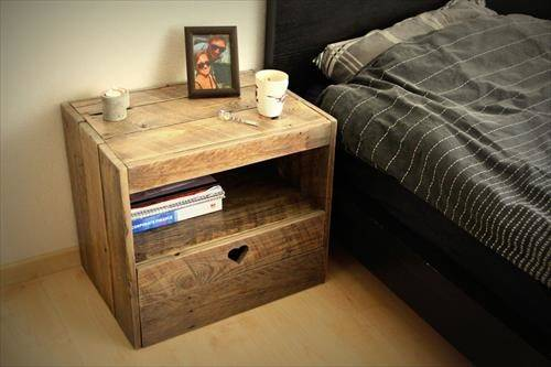 Diy Pallet Bedside Table Ideas Pallets Designs