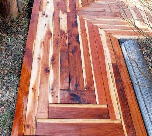 Diy Pallet Wood Walkway Pallets Designs