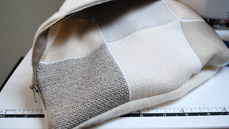 Diy Pillow Pile Leftover Sofa Fabric Swatches