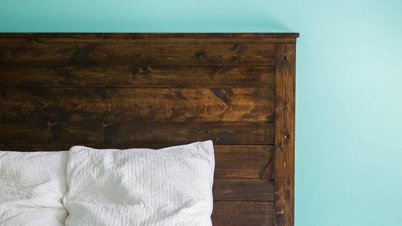 Diy Rustic Wooden Headboard Casuable