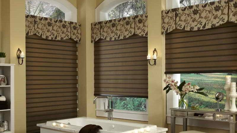Doors Windows Modern Bathroom Window Treatments Ideas