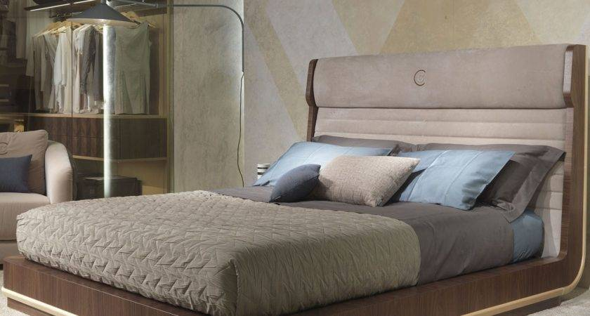 Double Bed Contemporary Wooden Upholstered Headboard