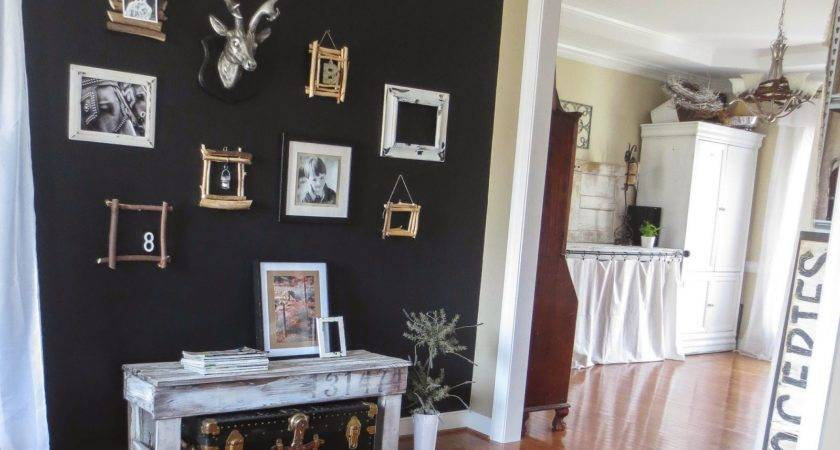 Down Earth Style Paint Black Accent Wall