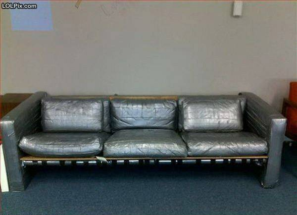 Duct Tape Sofa Funny Pic