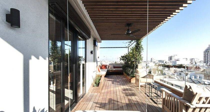 Duplex Penthouse Roof Terrace Gets Graphical Redesign