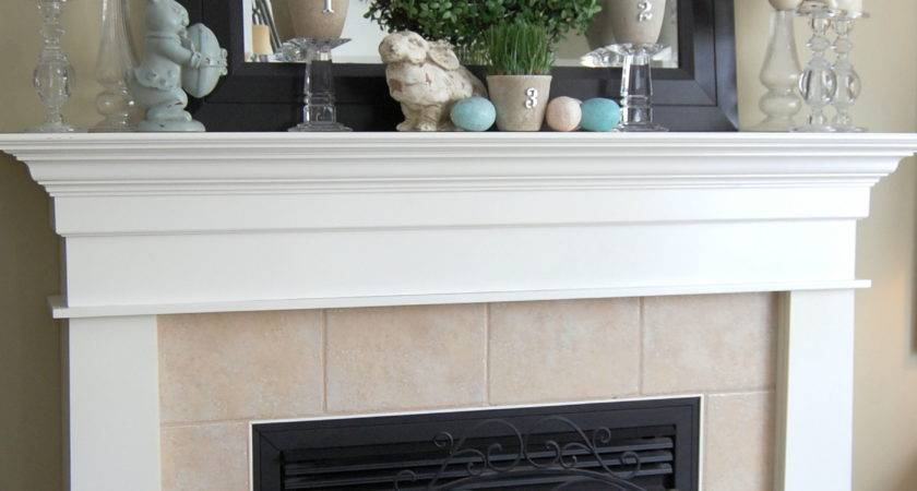 Easter Decorating Ideas Mantel Pop Pretty