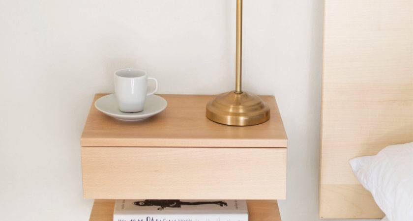 Easy Pieces Wall Mounted Bedside Shelves Drawers