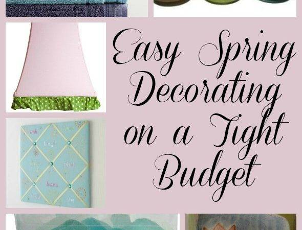 Easy Spring Decorating Tight Budget Pretty Opinionated
