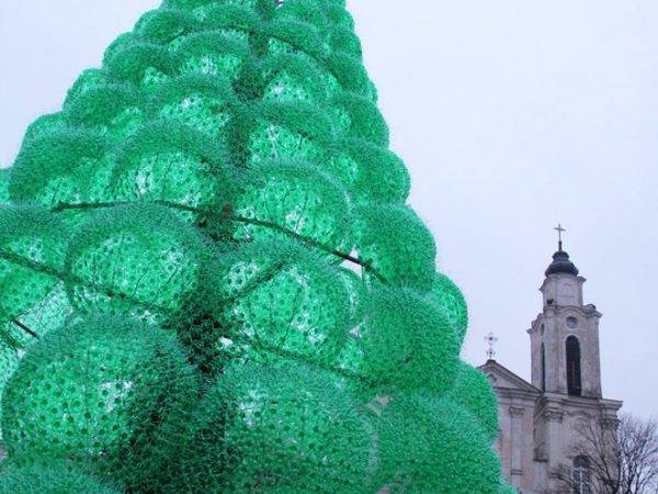 Eco Friendly Christmas Tree Made Recycled Bottles
