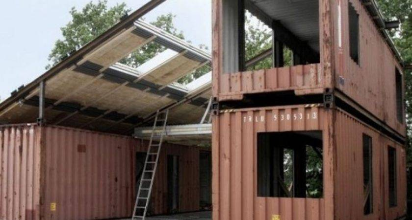 Eco Friendly Houses Made Old Ship Containers