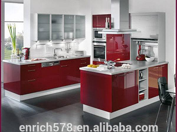 Economical Modern Lacquer Kitchen Cabinet Project