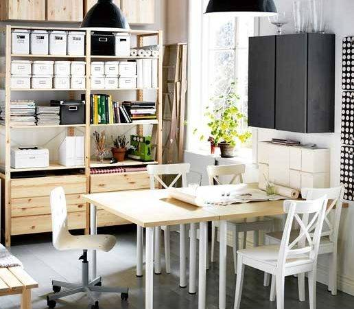 Efficient Dining Room Design Combined Home Office