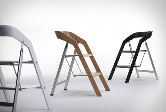 Elegant Furniture Piece Two Functions Stepladder