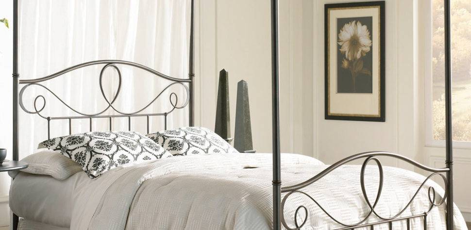 Elegant Iron Canopy Bed Frame Homesfeed