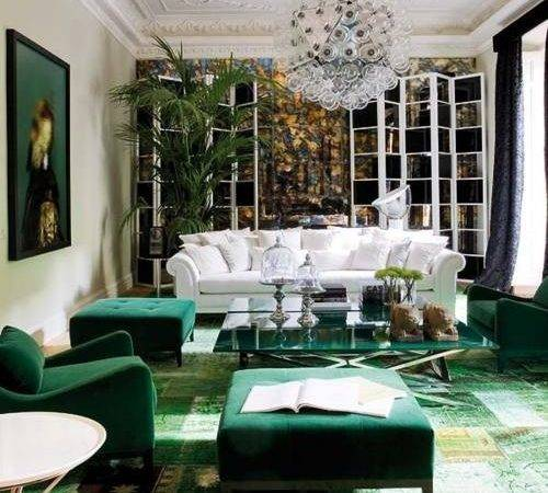 Emerald Green Living Room Via Pinterest