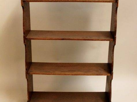 English Provincial Oak Hanging Bookcase Lot