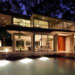 Evening Lighting Modern Concrete House Caril Argentina