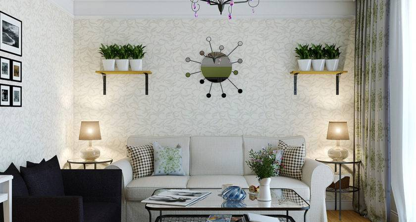 Exclusive Decor Wall Decal Living Room Plants Black