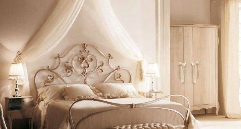Exotic Canopy Bed Frame Feminine Look Woman Bedroom