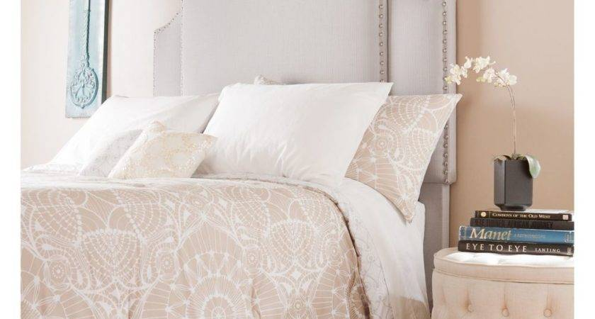 Expandable Upholstered Headboard Queen King Bed