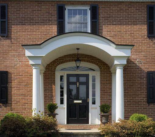 Exterior Arch Portico Front Traditional