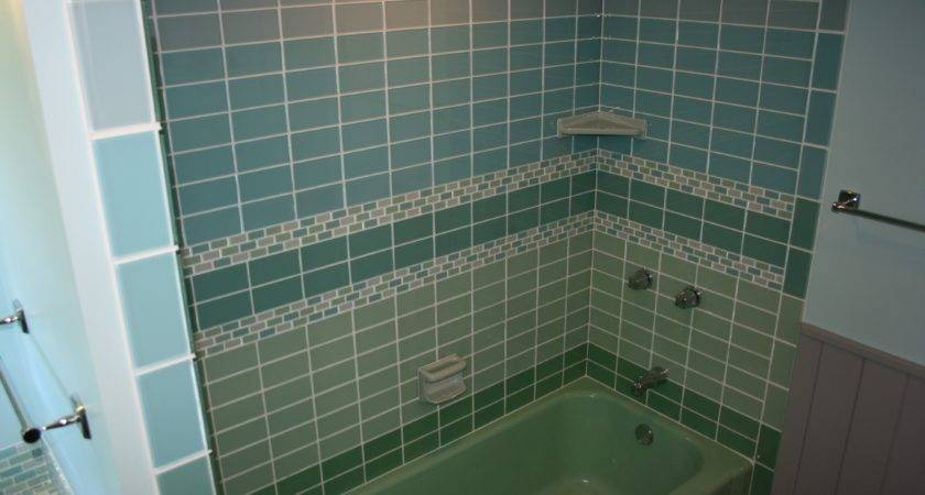 Fabulous Green Blue Subway Tile Wall Panel Small