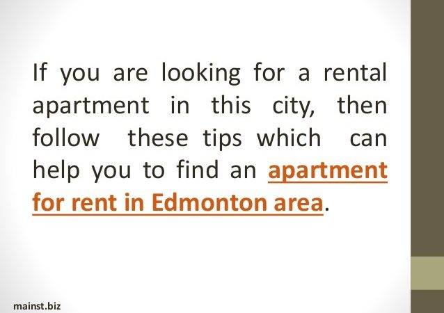 Factors Consider Before Renting Apartment Edmonton