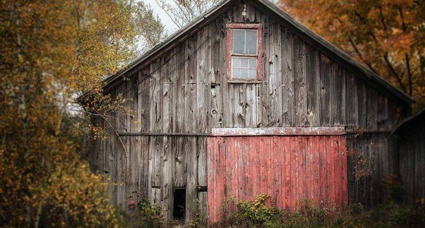 Farmhouse Decor Barn Art Print Canvas Wrap Rustic