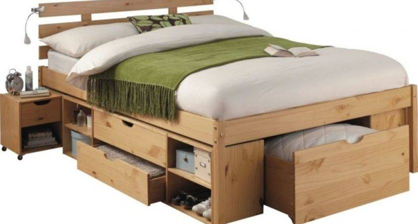 Fascinating Double Bed Frame Made High Quality