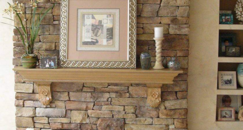 Faux Stone Fireplace Mantels Awesome Apply Thin