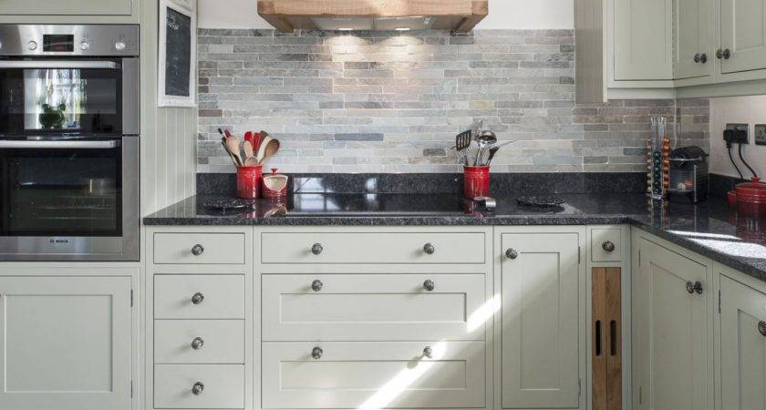 Faux Stone Kitchen Backsplash Budget Friendly
